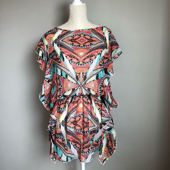 783d52014f Jessica Simpson Other - Jessica Simpson ruffle beach cover up. Sz M